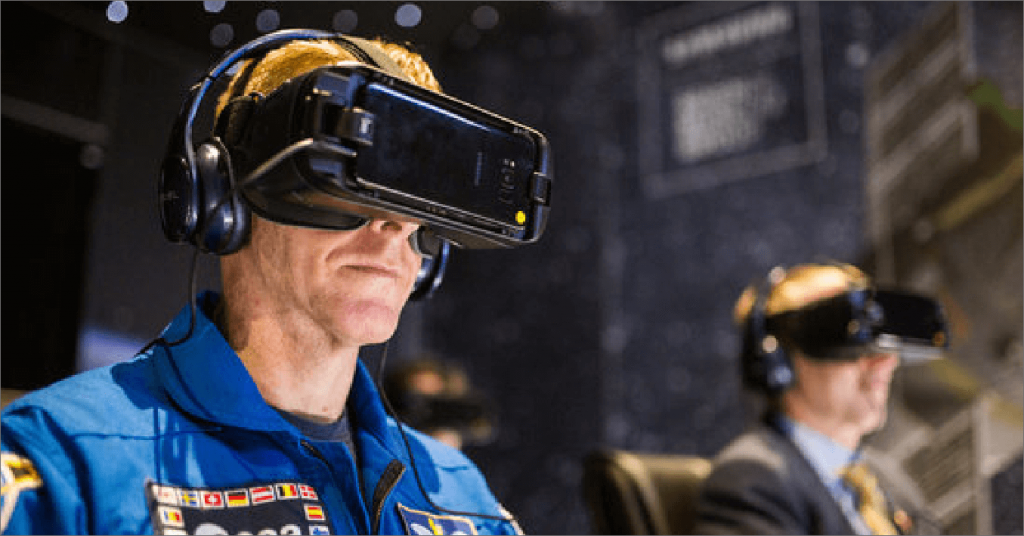 augmented reality in use via phone and headset