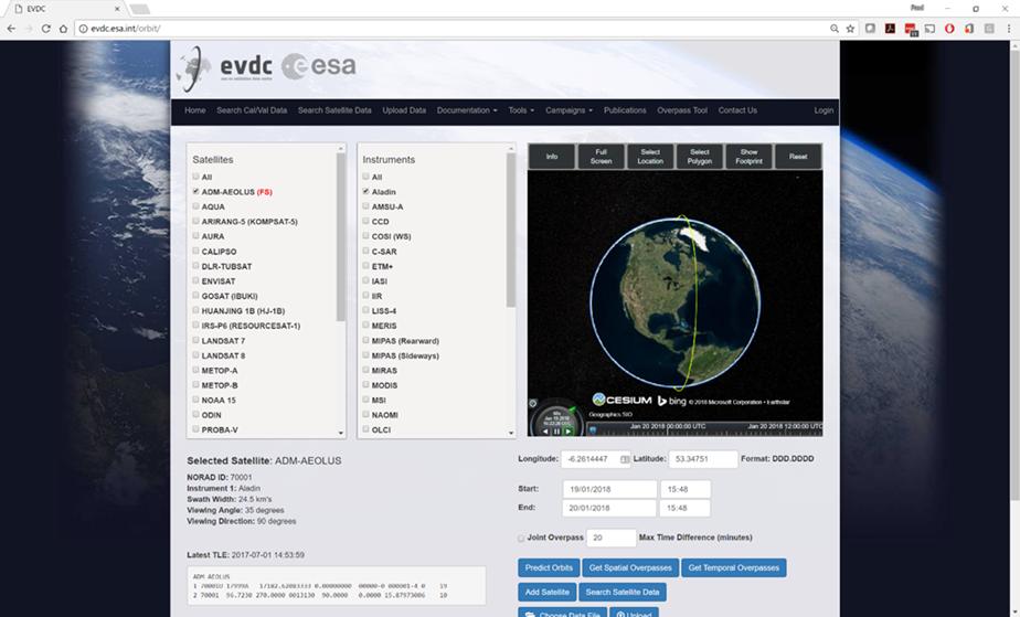 EVDC portal screenshot