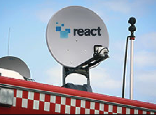 react satellite dish