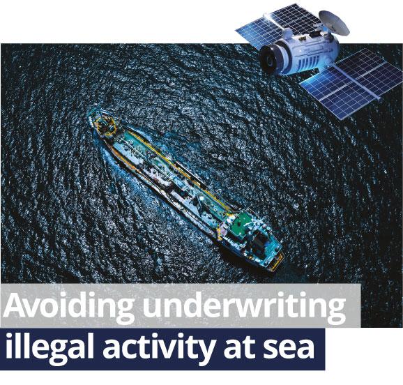 Avoiding Underwriting legal activity at sea