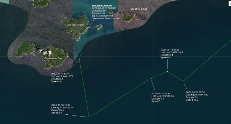 Baili Dao Island ship tracking