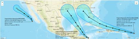 Three hurricanes image