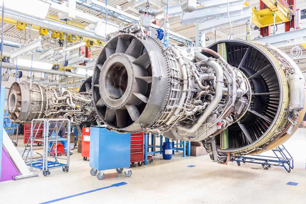 jet engines under construction
